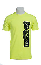 Stackin Bills Men's Neon Yellow with Black Call Logo S/S Tee