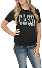 Women's Cash Vintage Black Tee