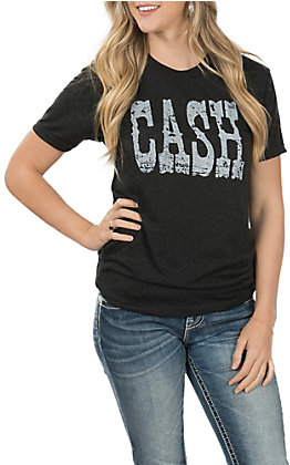 Jazzy Belle Women's Cash Vintage Black T-Shirt