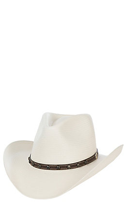 Stetson 8X Cyprus Pinch Front Natural Straw Cowboy Hat