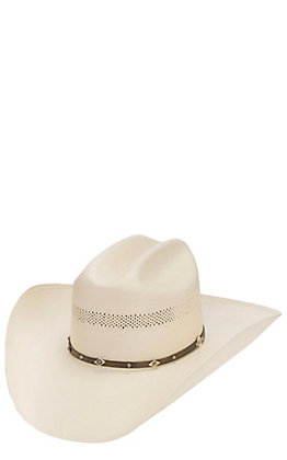 Stetson 10X Lobo Vent Ivory Straw Cowboy Hat