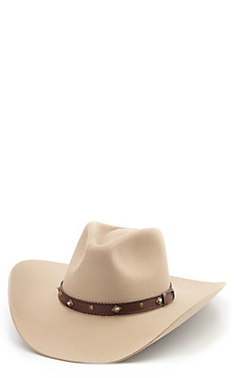 Stetson 4X Sunset Ride Ranch Tan Felt Cowboy Hat