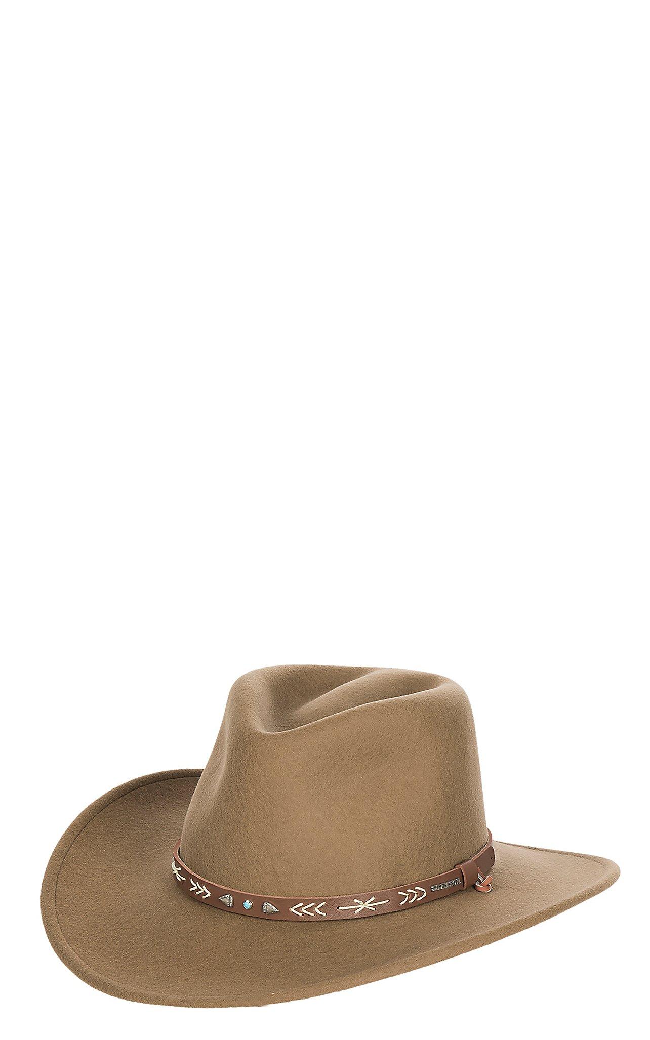 5b8235bc409 Stetson Santa Fe Crushable Tycoon Dri-Lex Wool Cowboy Hat