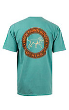 Back Down South Seafoam with Stamp Logo Short Sleeve Pocket Tee  STAMPSF
