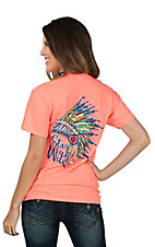 Girlie Girl Originals Women's Heather Coral Stay Wild Short Sleeve T-Shirt