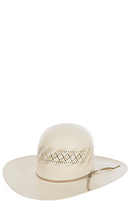 Stetson Men's 10X Thunder Ivory Vented Crown Straw Cowboy Hat