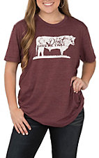 STS Ranchwear Women's Maroon Heather Don't Give Me... S/S T-Shirt