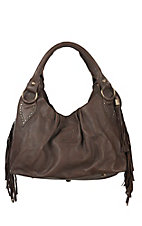 STS Ranchwear The Gypsy Dark Brown with Fringe Hobo Bag