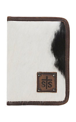 STS Ranchwear Cowhide Hair and Brown Leather Magnetic Wallet