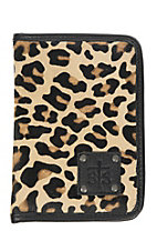 STS Ranchwear Leopard Hair and Black Leather Magnetic Wallet
