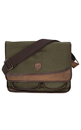 STS Men's Foreman Dark Canvas Messenger  Bag