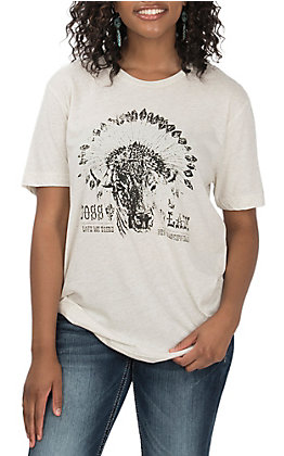 STS Ranchwear Womens's Oatmeal Boss Lady T-Shirt