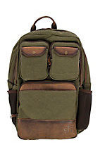 STS Ranchwear Foreman Collection Military Green Canvas Backpack