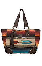 STS Ranchwear The Sabrina Blue & Red Multicolor Serape Shopper Tote