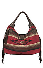 STS Ranchwear The Reina Red Serape Pattern Large Tote