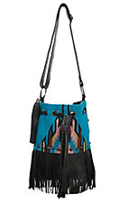 STS Ranchwear The Lolita Blue Serape Cross Body Bucket Bag
