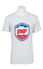 STS Men's Heather White American Crest Short Sleeve Tee