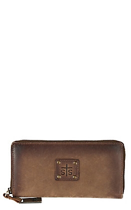 STS Ranchwear Baroness Distressed BiFold Zip Wallet
