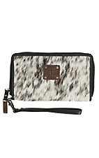 STS Ranchwear Black and White Cowhide Kacy Organizer