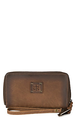 STS Ranchwear Distressed Brown Kacy Organizer Wallet