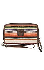 STS Women's Kacy Tularosa Serape with Brown Leather Organizer Wallet