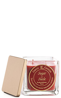 Circle E Sugar & Suede 22 Oz Candle