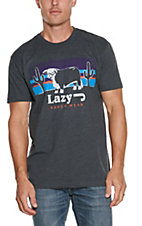 Lazy J Ranch Wear Charcoal Sunset with Hereford T-Shirt