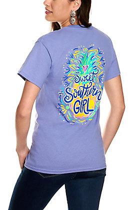Girlie Girl Originals Women's Violet Sweet Southern Girl Short Sleeve T-Shirt
