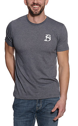 Stackin Bills Men's Heather Navy Short Sleeve T-Shirt