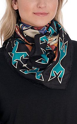 Black Southwest Silk Wild Rags Scarf