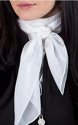 White Silk Wild Rags Scarf