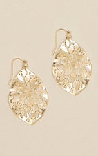 Amber's Allie Gold Teardrop Earrings