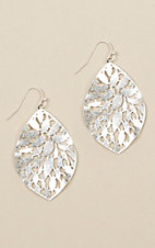 Amber's Allie Silver Teardrop Earrings