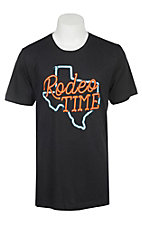 Rodeo Time Dale Brisby Texas Neon Black Rodeo Time T-Shirt