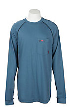 Cinch Men's Blue Pocket Heley L/S FR Shirt