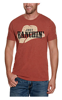 Rodeo Time Clay Just Ranchin' Graphic Short Sleeve T-shirt