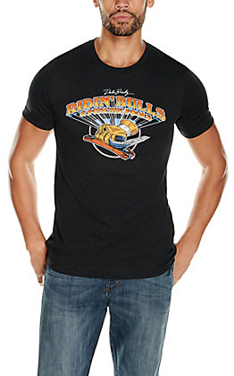 Rodeo Time Dale Brisby Men's Black Take a Wrap Graphic Short Sleeve T-Shirt