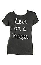 Lovely Souls Charcoal Grey Livin on a Prayer Casual Knit Top