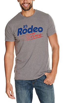 Rodeo Time Dale Brisby Men's Grey Fast Track Short Sleeve T-Shirt