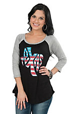 Lovely Souls Black Texas Causal Knit Top