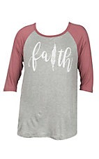 Lovely Souls Faith Feather Grey Causal Knit Top - Plus Size