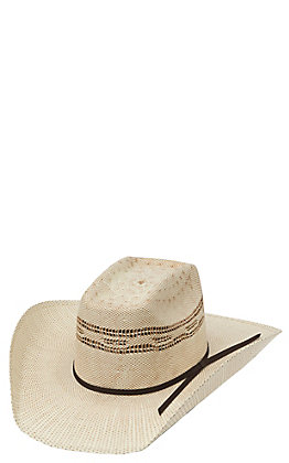 Twister Two Tone Bangora Straw Vented Crown Children's Cowboy Hat