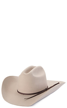 Twister Youth Grey with Charcoal Band Wool Cowboy Hat