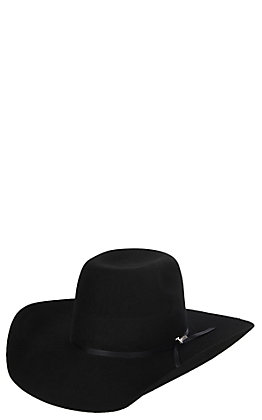 Twister Youth Black Wool Punchy Crown Cowboy Hat