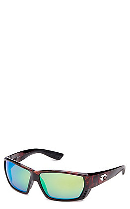 Costa Tuna Alley Green Mirror Tortoise Sunglasses