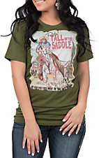 XOXO Art & Co. Women's Olive Tall in the Saddle T-Shirt