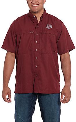 GameGuard Outdoors Men's Maroon MicroFiber A&M Shirt
