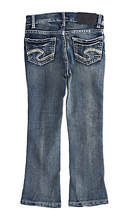 Silver Toddler Girls' Tammy Medium Wash Boot Cut Jeans (2T-4T)