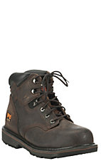 Timberland Pro Men's Pit Boss Dark Brown Lace Up Steel Toe Work Boot