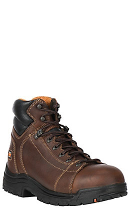 "Timberland PRO Titan Men's Round Alloy Toe 6"" Lace Up Work Boots"